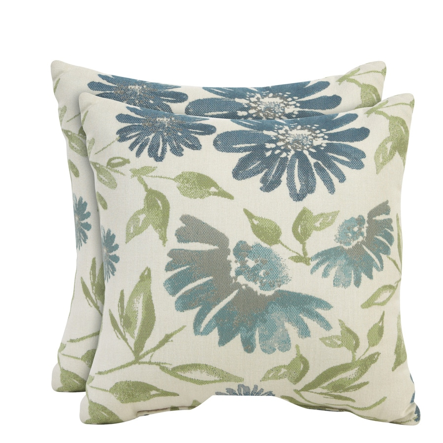 allen + roth Set of 2 Sunbrella Baltic UV-Protected Outdoor Decorative Pillows