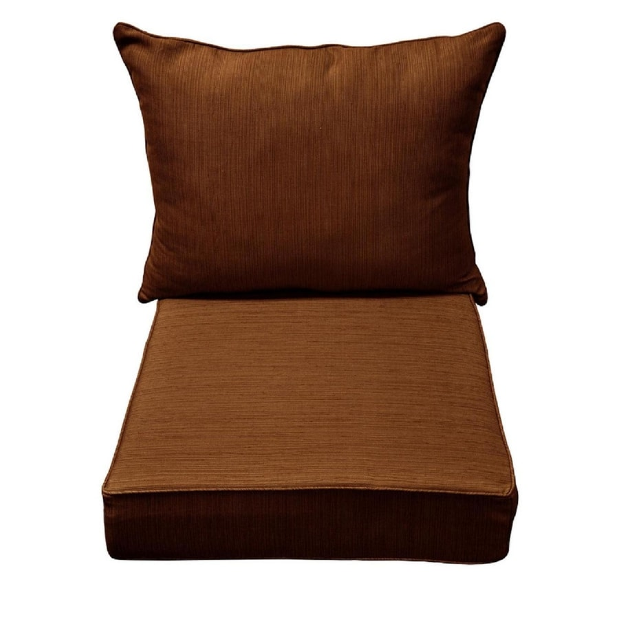 allen + roth Rust Texture Cushion for Deep Seat Chair
