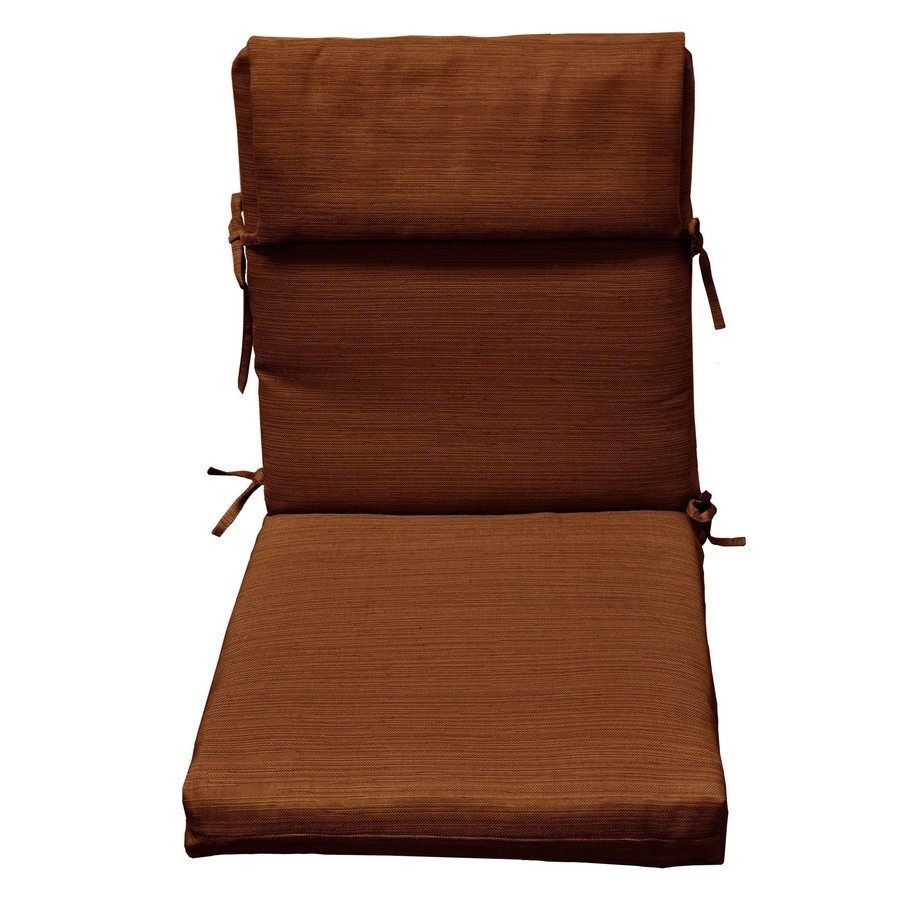 allen + roth 1-Piece Rust Cushion