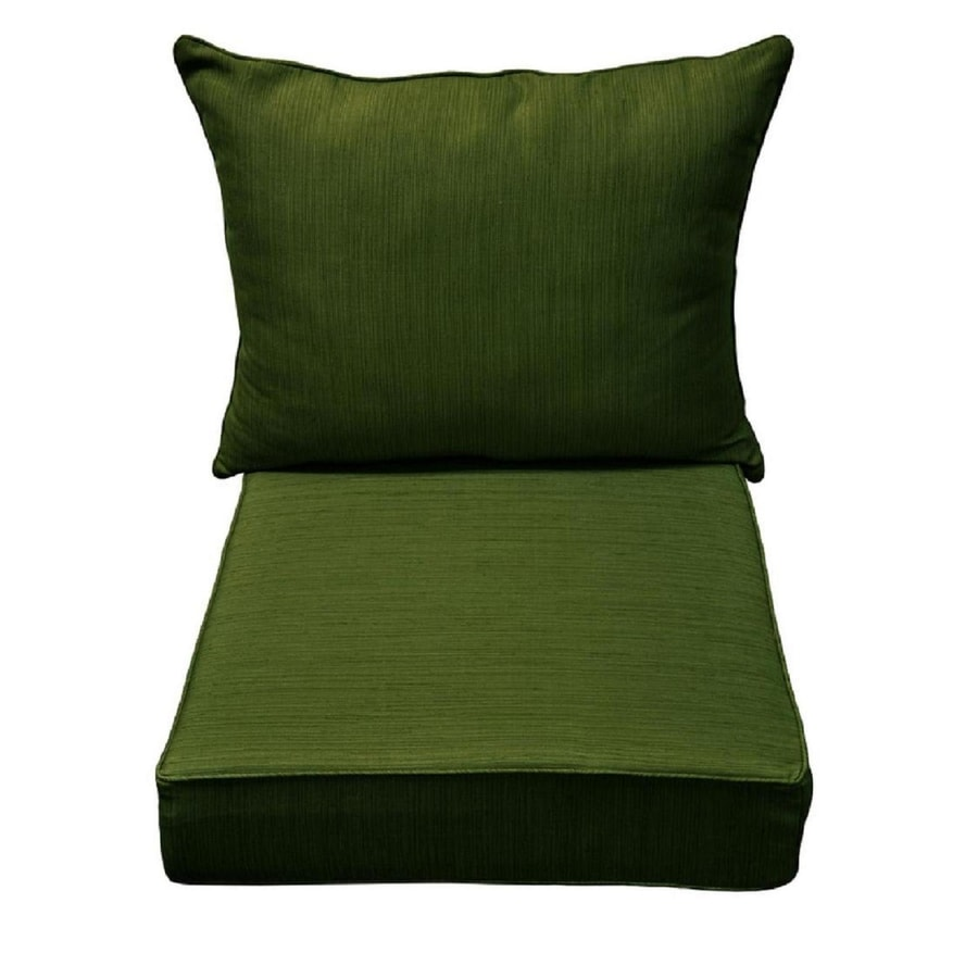 Allen + Roth 1 Piece Green Deep Seat Patio Chair Cushion