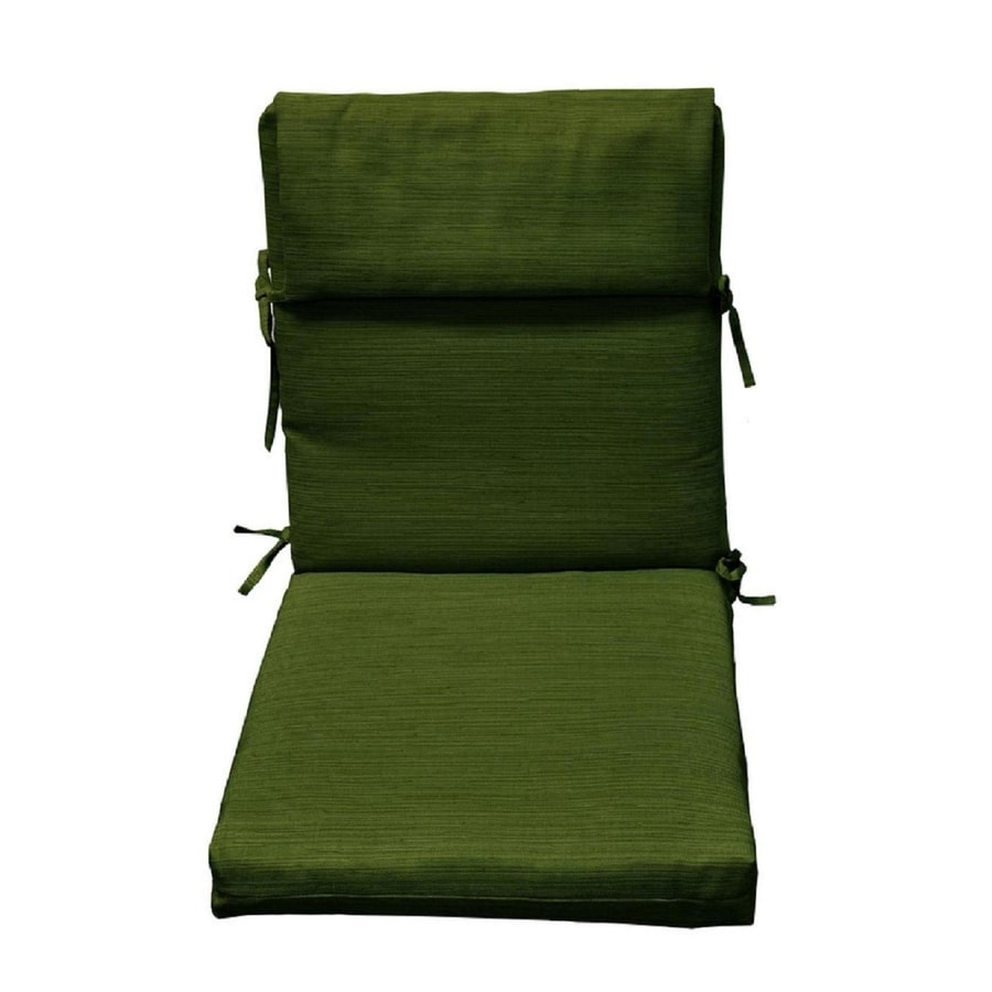 allen + roth Green Texture High Back Patio Chair Cushion for High-back Chair