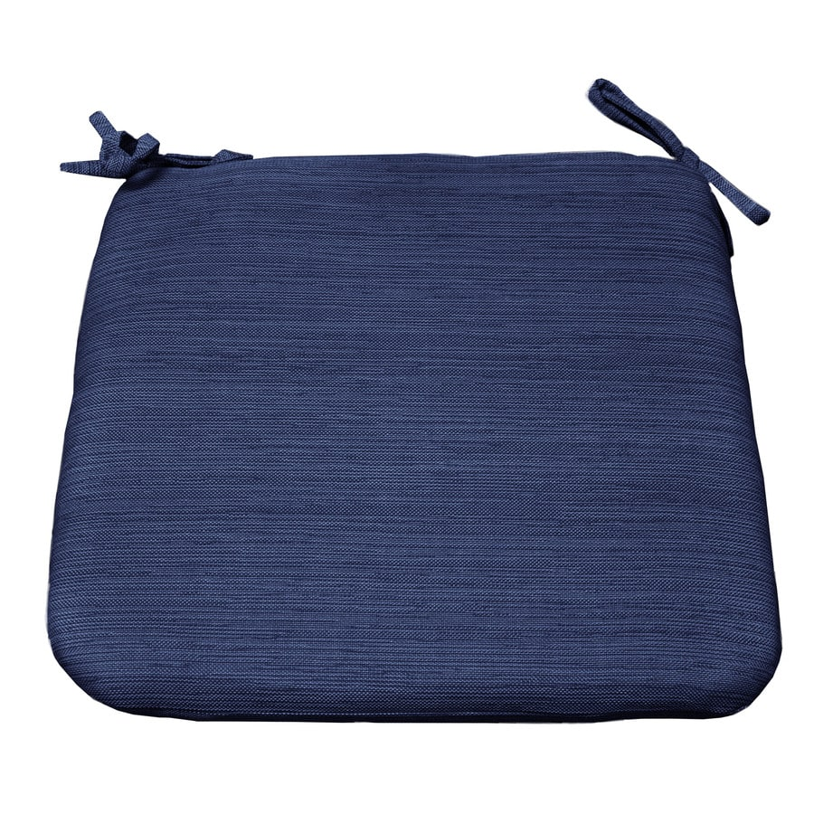 allen + roth Navy Texture Standard Patio Chair Cushion for Bistro Chair