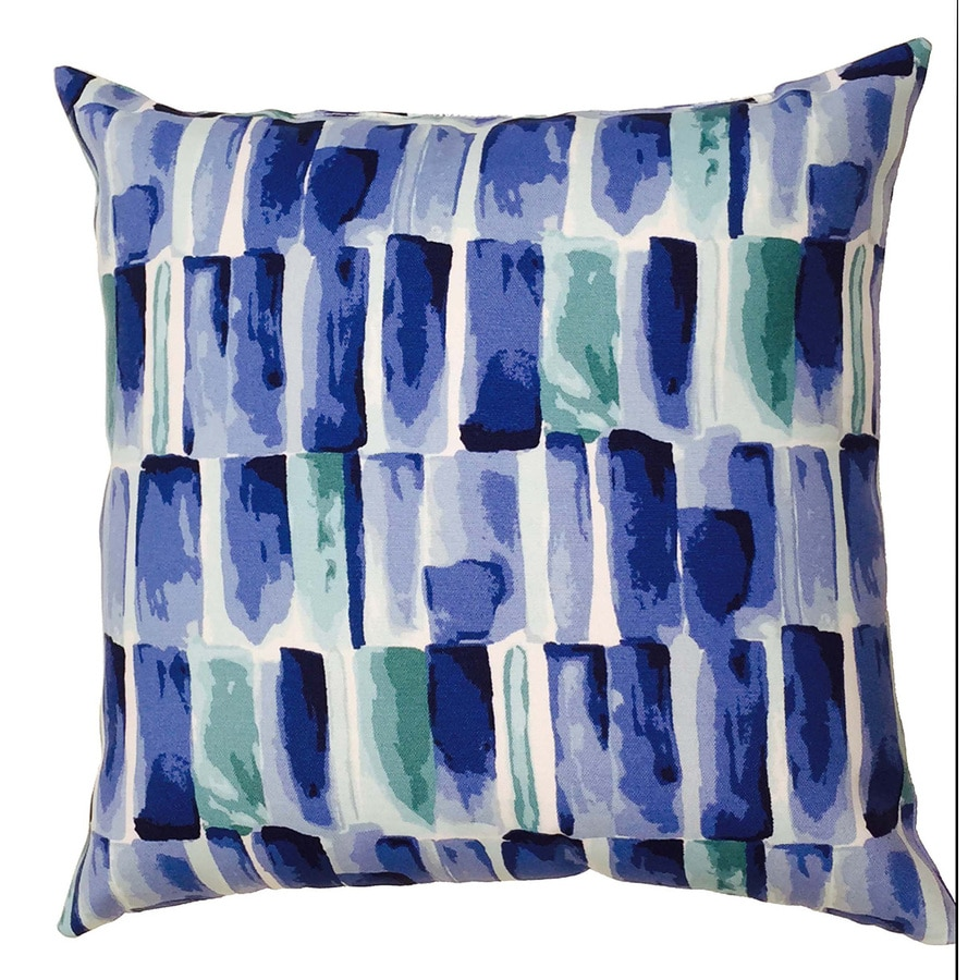 allen + roth Multi Floral Square Throw Outdoor Decorative Pillow
