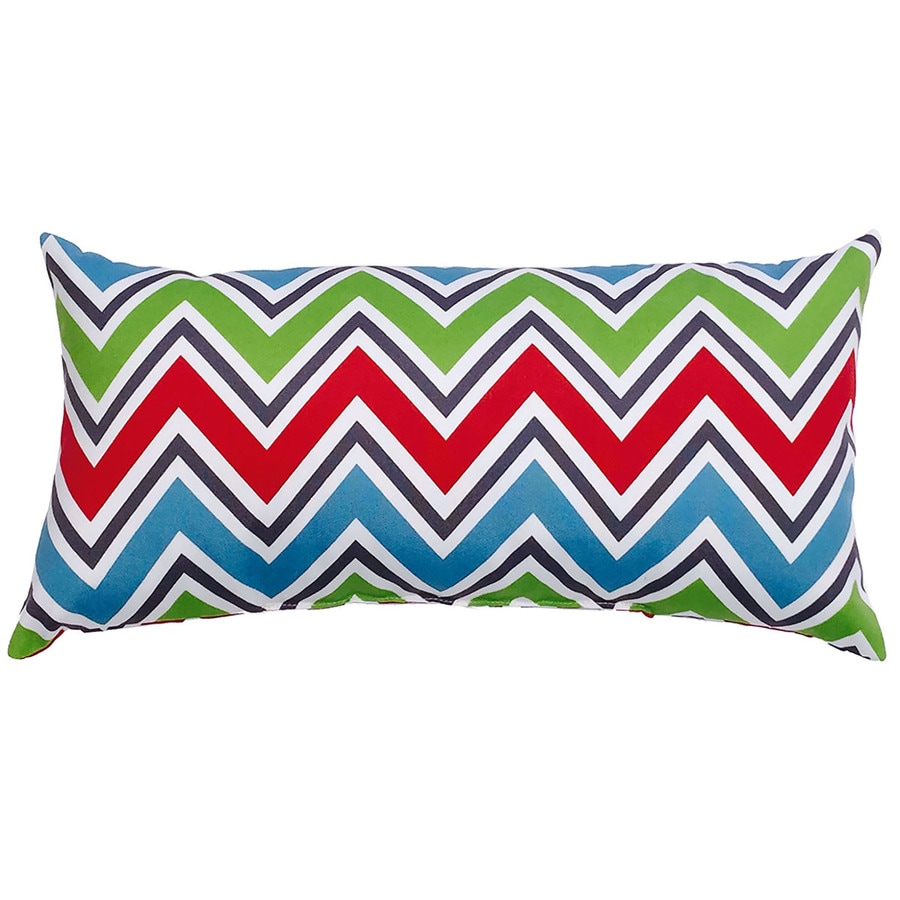 Decorative Outdoor Lumbar Pillows : Shop Garden Treasures Geometric Rectangular Lumbar Pillow Outdoor Decorative Pillow at Lowes.com