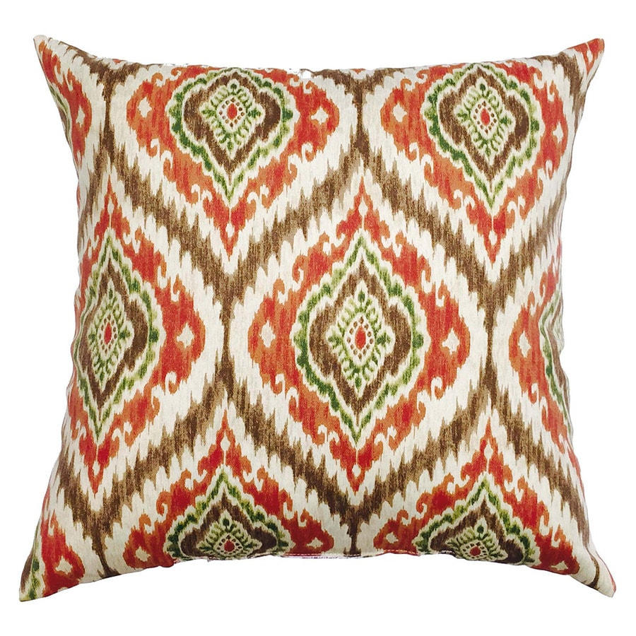 Decorative Pillow Covers Lowes : Shop allen + roth Floral Square Throw Pillow Outdoor Decorative Pillow at Lowes.com