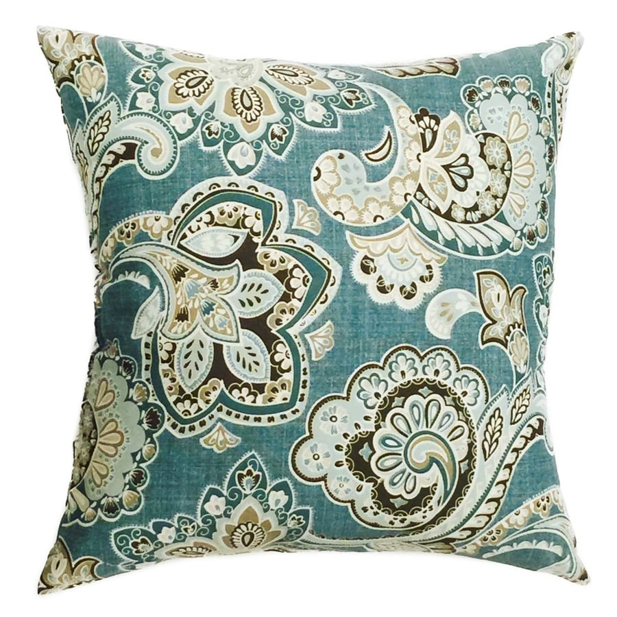 Decorative Pillow Covers Lowes : Shop allen + roth Floral Square Throw Outdoor Decorative Pillow at Lowes.com
