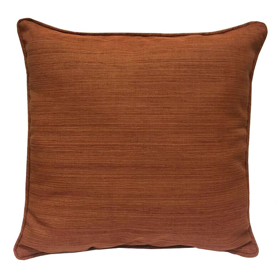 allen + roth Rust Texture Standard Patio Chair Cushion for Bistro Chair