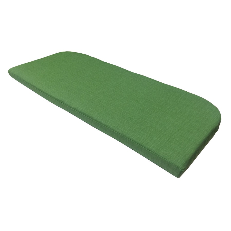 Shop Garden Treasures Green Texture Cushion For Patio Bench At