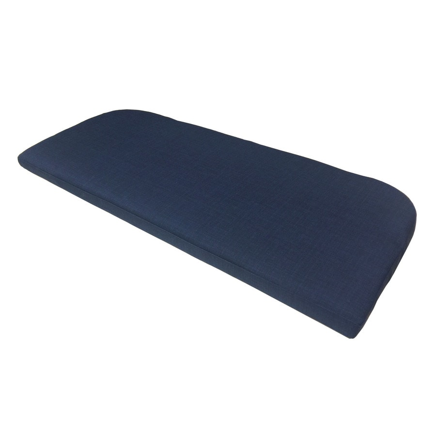 Garden Treasures Blue Texture Patio Bench Cushion for Patio Bench