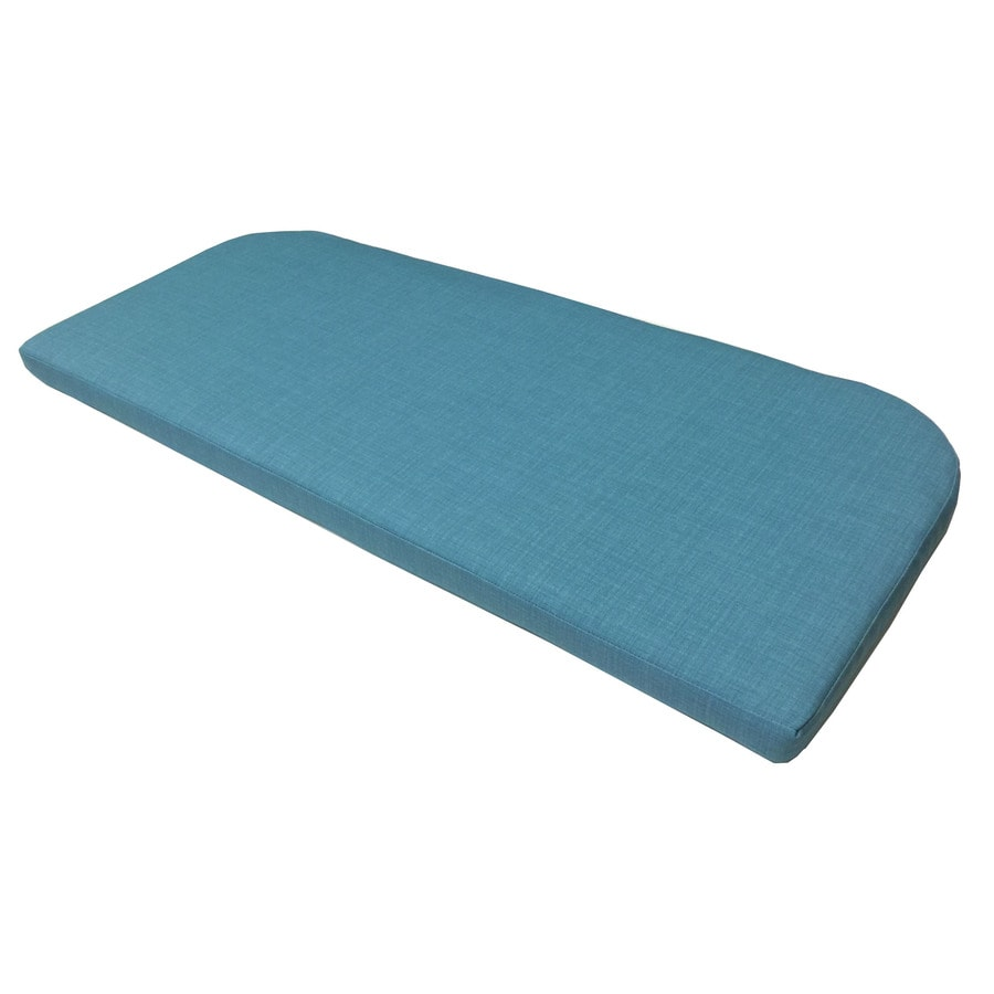 Garden Treasures Teal Texture Cushion for Patio Bench