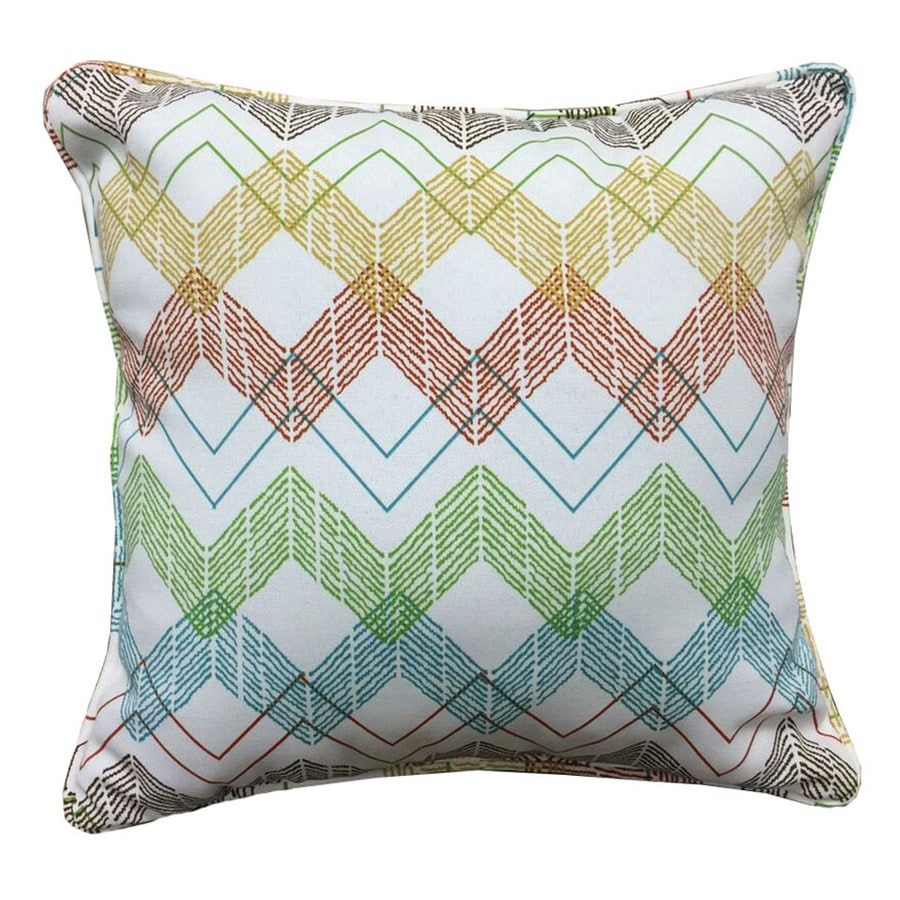 Garden Treasures And Chevron Square Throw Pillow Outdoor Decorative Pillow