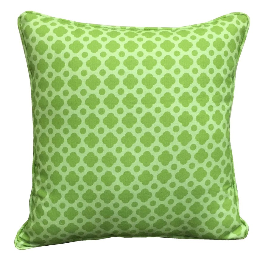 Garden Treasures and Geometric Square Throw Pillow Outdoor Decorative Pillow