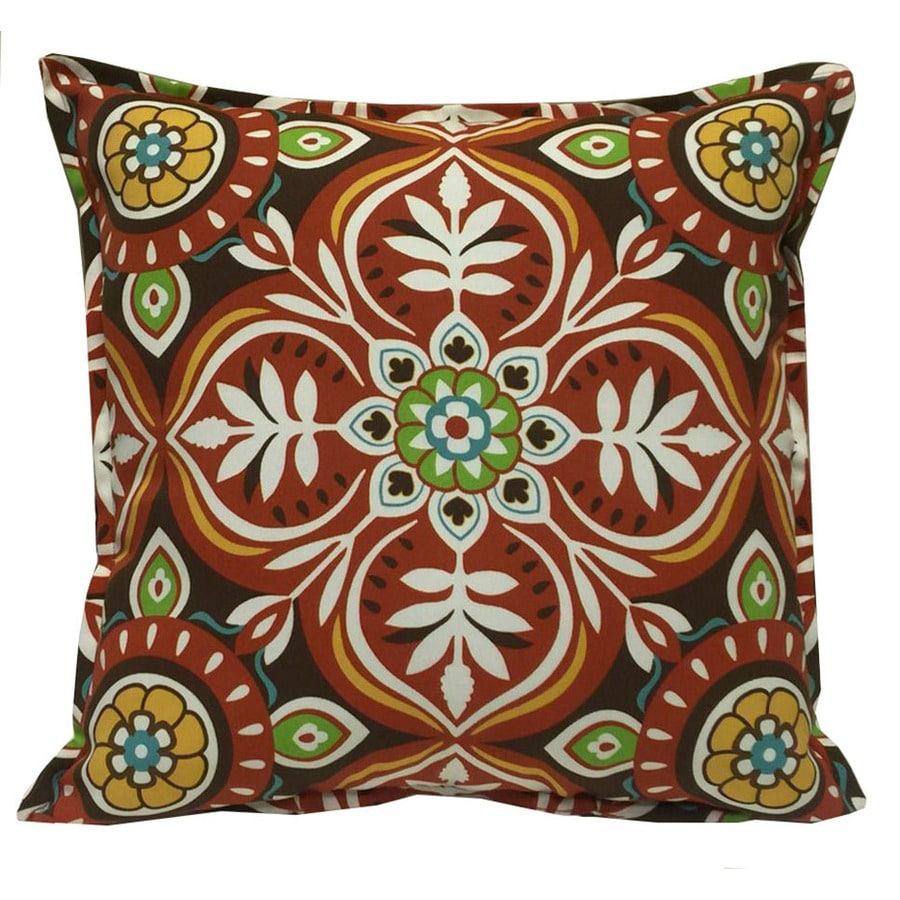 Amazing Garden Treasures Red And Striped Square Throw Pillow Outdoor Decorative  Pillow