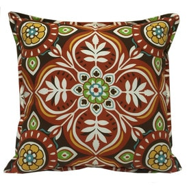 Marvelous Garden Treasures Red And Striped Square Throw Pillow Outdoor Decorative  Pillow