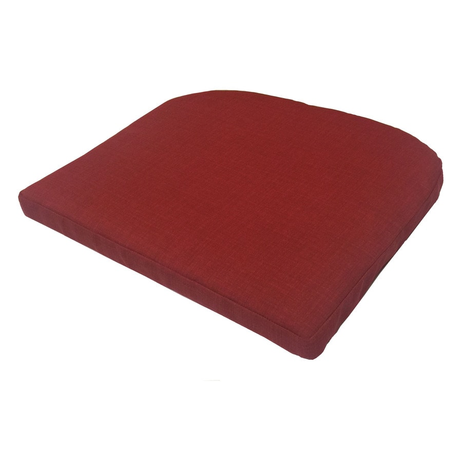 Garden Treasures Red Texture Seat Pad for Bistro Chair