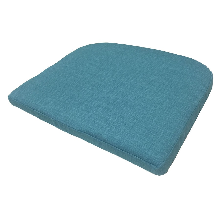 Garden Treasures Teal Texture Seat Pad for Bistro Chair