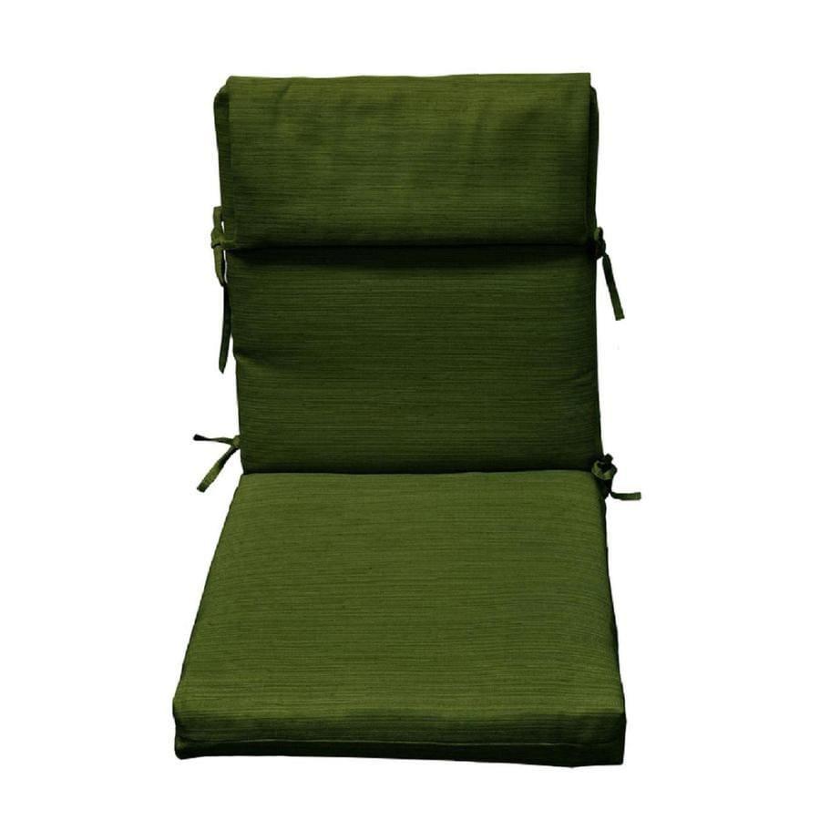 High back patio chair cushions - Allen Roth Green Texture High Back Patio Chair Cushion For High Back Chair