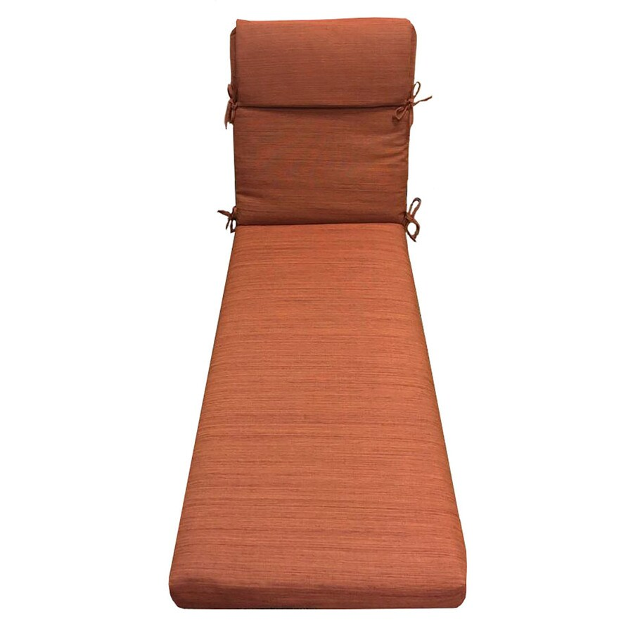 allen + roth Rust Texture Cushion for Chaise Lounge