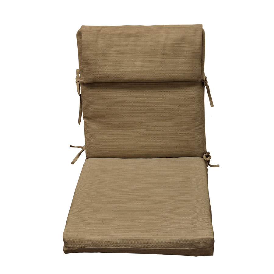 allen + roth Natural Wheat Texture Cushion for High-Back Chair
