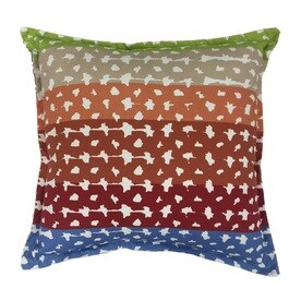 allen roth red and green geometric square throw pillow outdoor decorative pillow