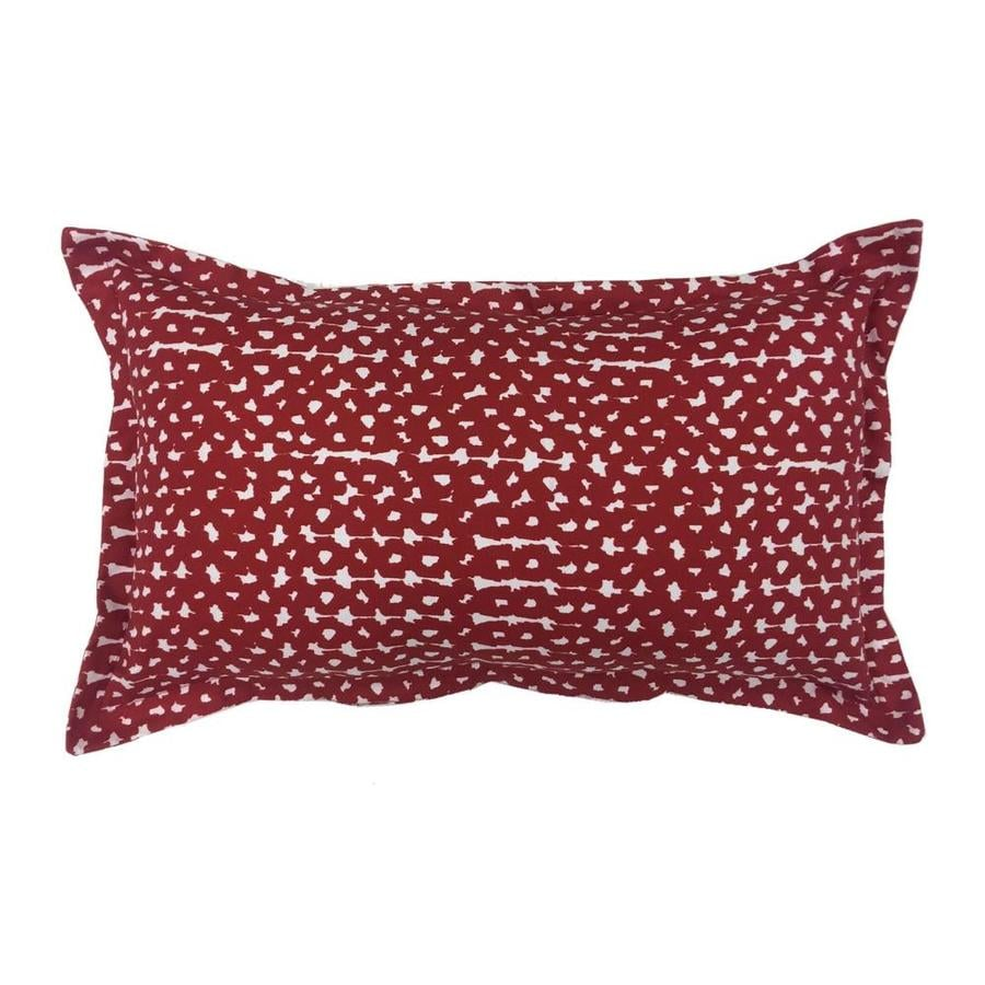 Decorative Outdoor Lumbar Pillows : Shop allen + roth Red and White Geometric Rectangular Lumbar Pillow Outdoor Decorative Pillow at ...