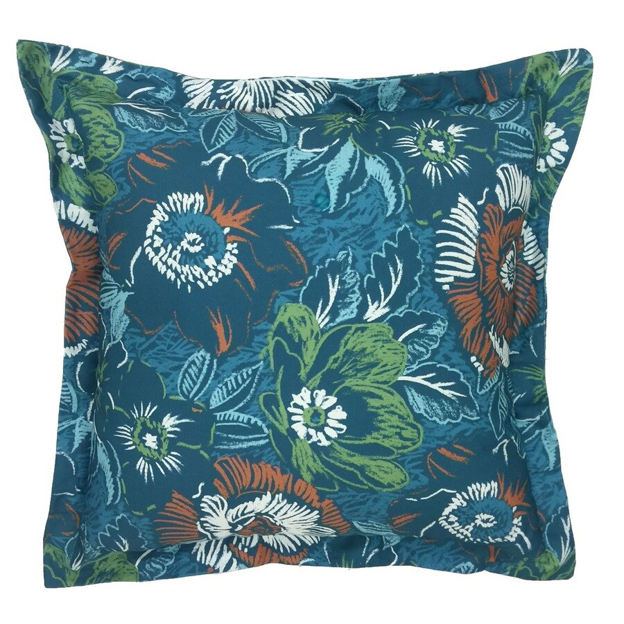 Allen roth desert floral outdoor decorative pillow at - What is a throw pillow ...