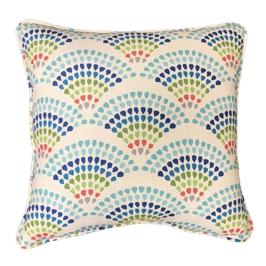 Allen Roth Outdoor Indoor Paisley Beige Square Throw Pillow At