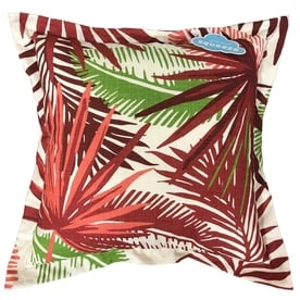 Allen + Roth Outdoor/Indoor Floral Red Square Throw Pillow