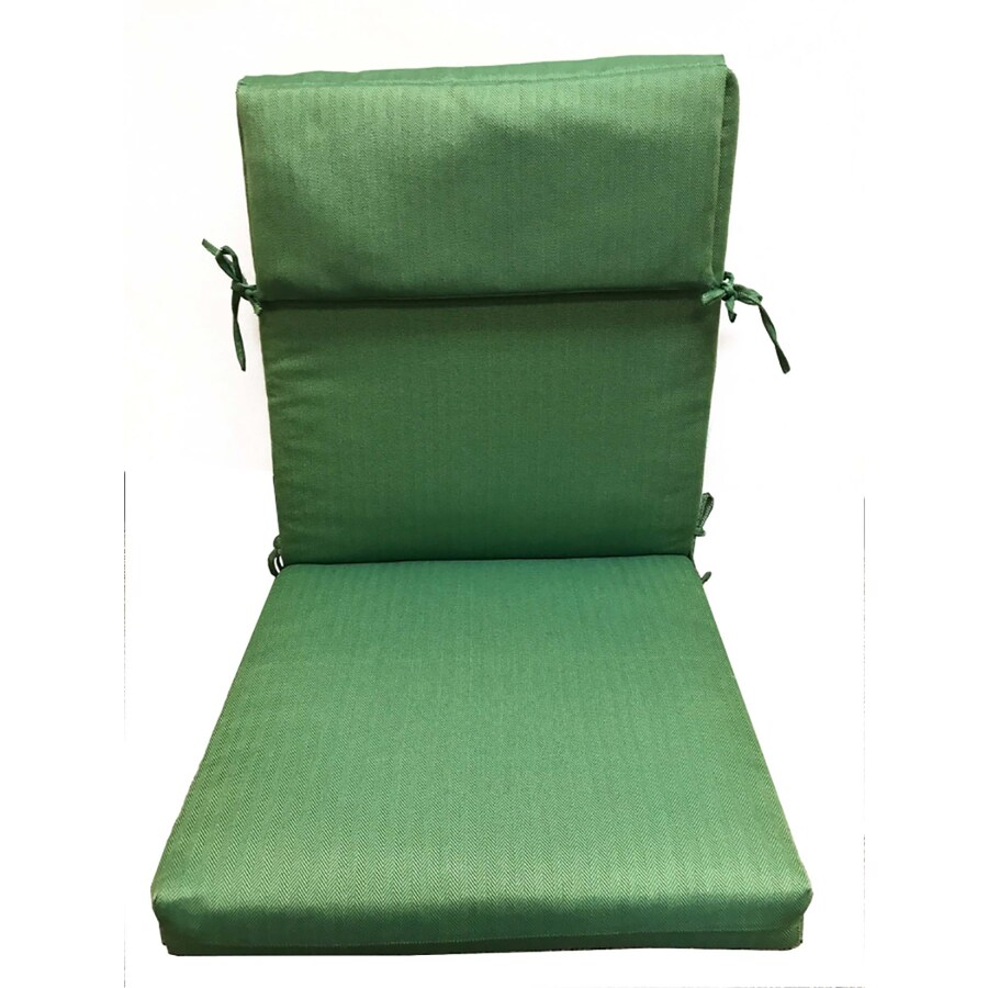 Allen Roth 1 Piece Solid Green High Back Patio Chair