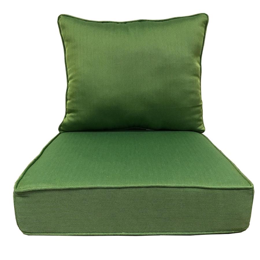 Shop Allen Roth 2 Piece Solid Green Deep Seat Patio