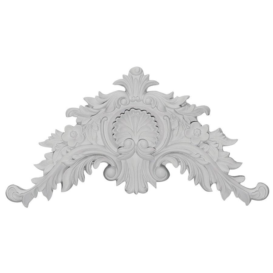 Ekena Millwork 11.5-in x 6-in Shell Primed Urethane Applique