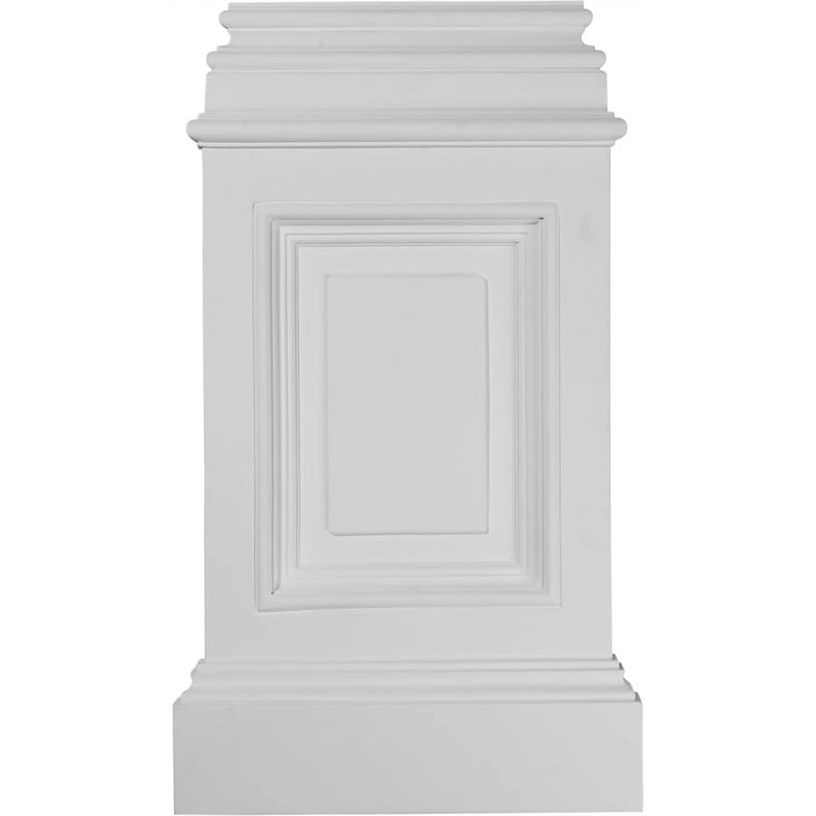 Ekena Millwork Classic 14.325-in x 24.75-in Urethane Plinth