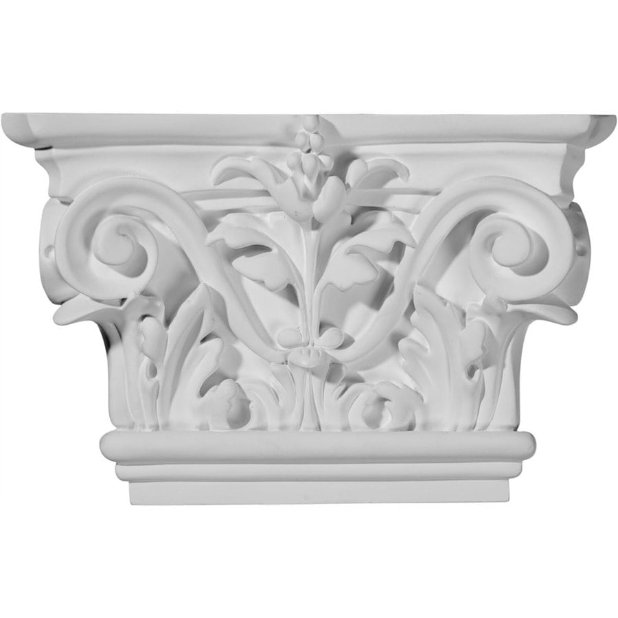 Ekena Millwork Acanthus 8.625-in x 0.46-in Primed Urethane Capital Entry Door Casing Accent