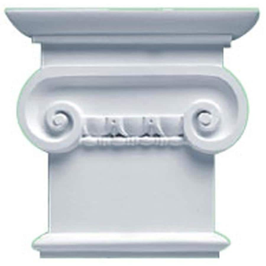 Ekena Millwork Classic Ionic 8.25-in x 0.66-in Primed Urethane Capital Entry Door Casing Accent