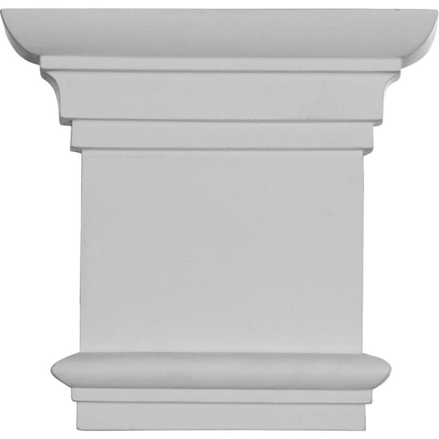 Ekena Millwork Traditional 8.25-in x 0.66-in Primed Urethane Capital Entry Door Casing Accent