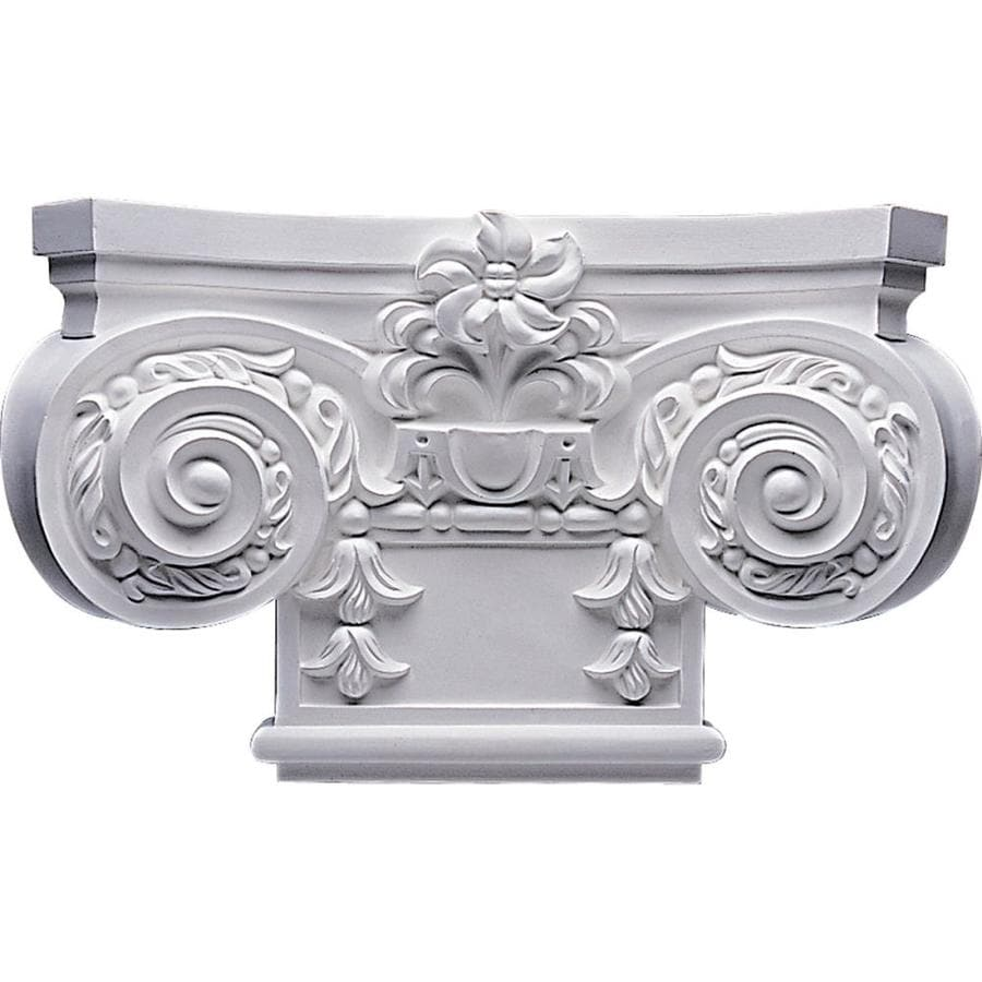 Ekena Millwork Empire 16.875-in x 0.85-in Primed Urethane Capital Entry Door Casing Accent
