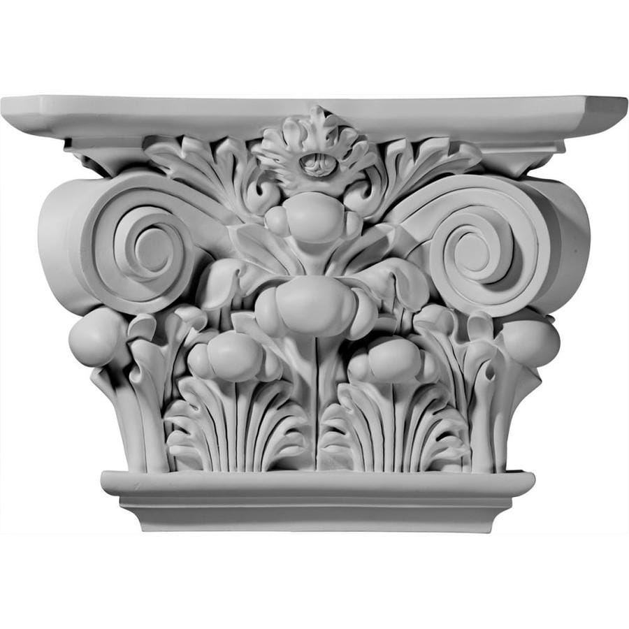Ekena Millwork Acanthus 17.5-in x 0.99-ft Urethane Capital Entry Door Casing Accent