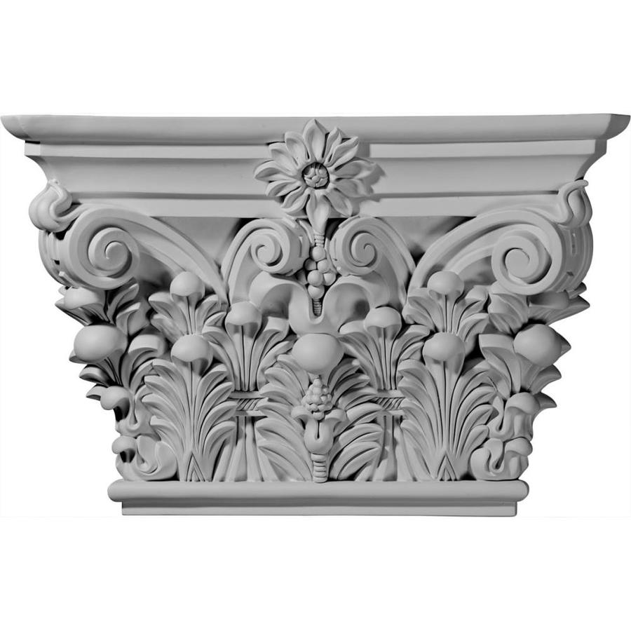 Ekena Millwork Acanthus 24.125-in x 1.32-in Primed Urethane Capital Entry Door Casing Accent