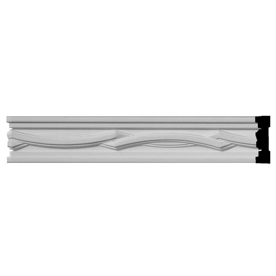 Ekena Millwork 1.875-in x 8-ft Primed Polyurethane Cole Chair Rail Moulding