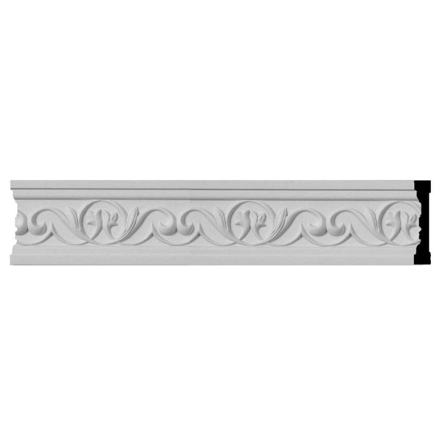 Ekena Millwork 3.5-in x 8-ft Primed Polyurethane Attica Chair Rail Moulding