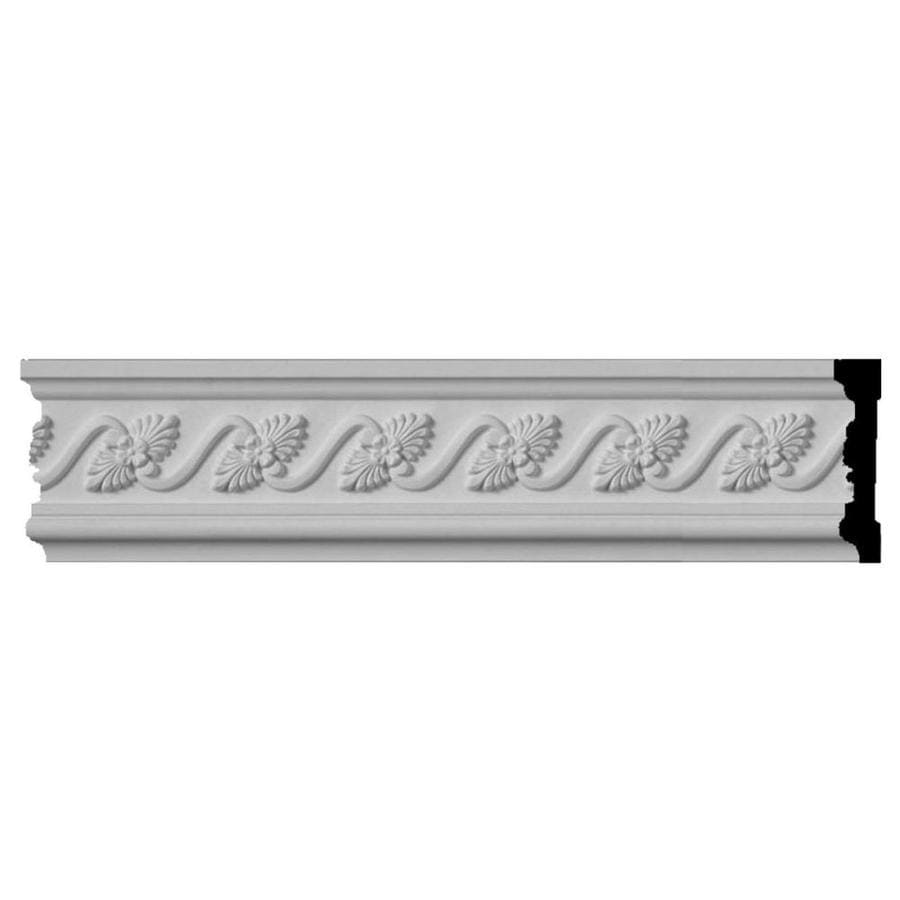 Ekena Millwork 3.5-in x 8-ft Primed Polyurethane Diane Chair Rail Moulding