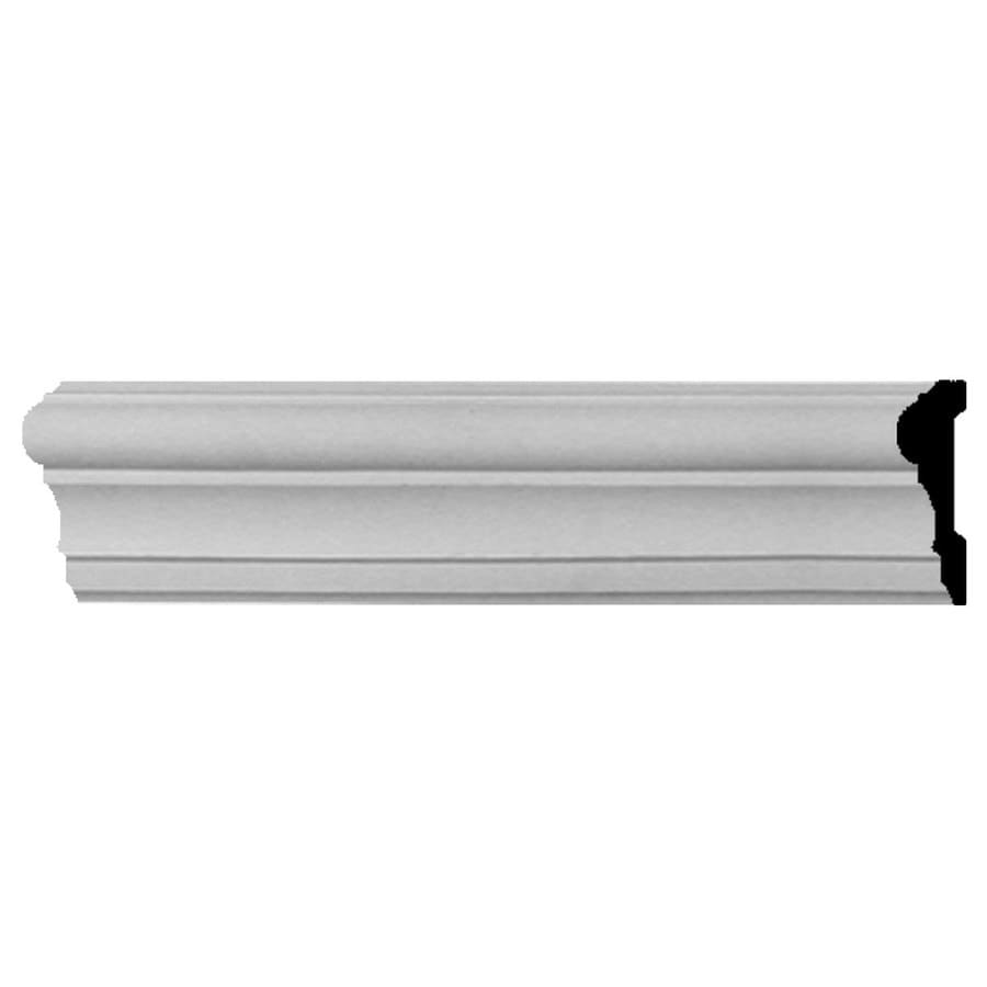 Ekena Millwork 4.25-in x 8-ft Primed Polyurethane Claremont Chair Rail Moulding