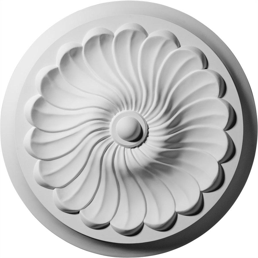 Ekena Millwork Flower 12.25-in x 12.25-in Polyurethane Ceiling Medallion