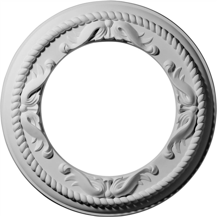 Ekena Millwork Roped 12.25-in x 12.25-in Polyurethane Ceiling Medallion