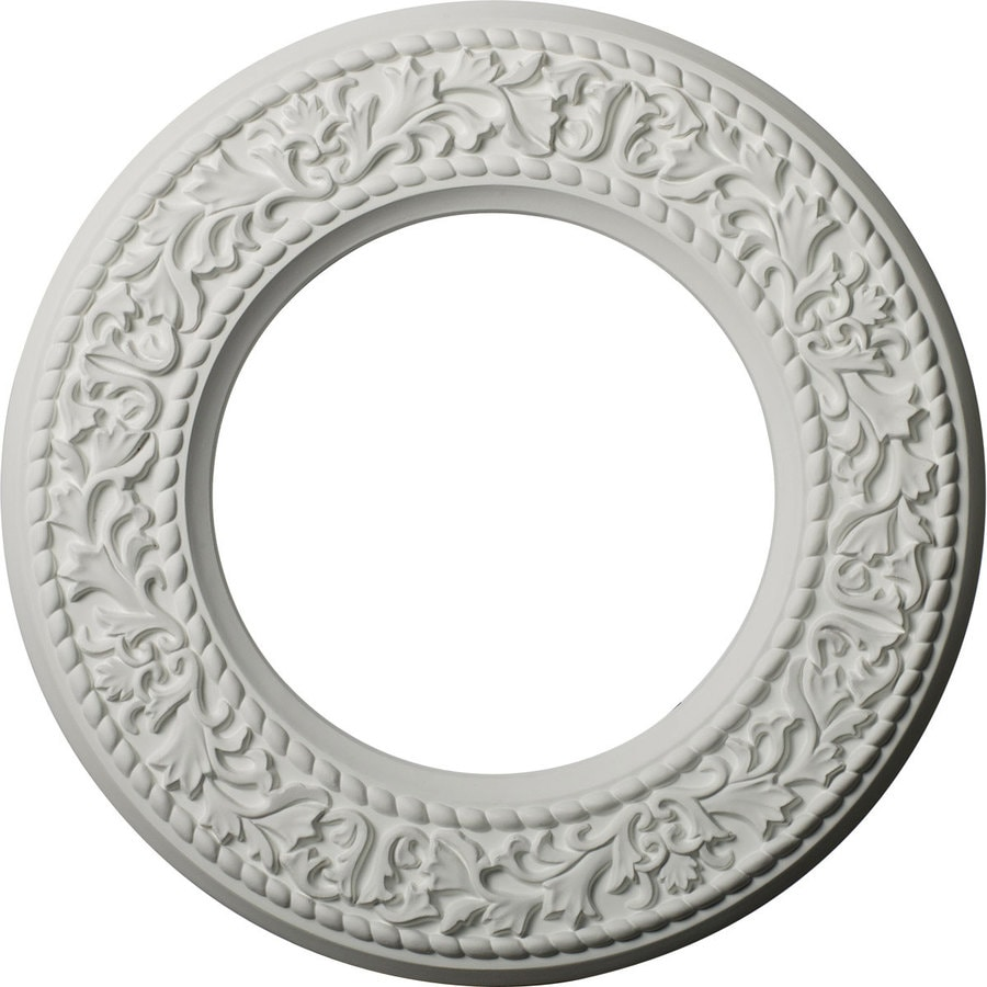 Ekena Millwork Blackthorn 13.375-in x 13.375-in Polyurethane Ceiling Medallion
