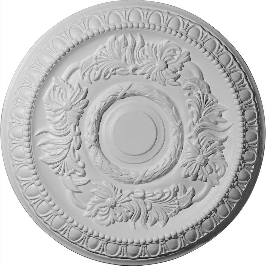 Ekena Millwork Cambridge 17.625-in x 17.625-in Polyurethane Ceiling Medallion