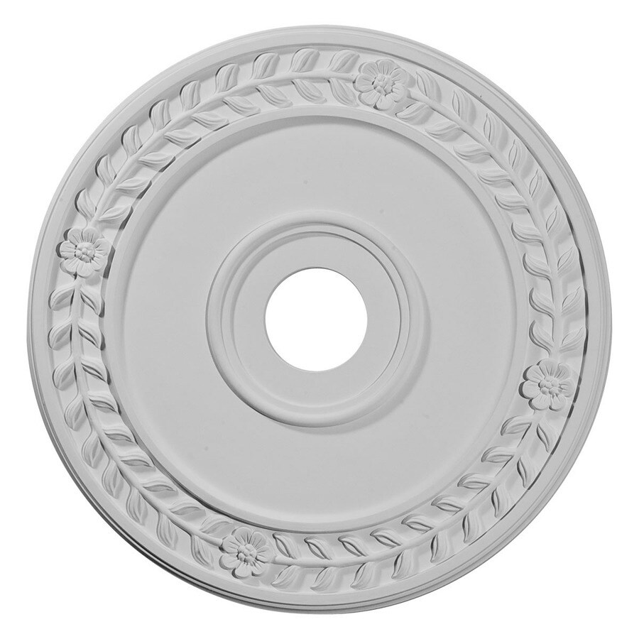 Ekena Millwork Wreath 21.125-in x 21.125-in Polyurethane Ceiling Medallion