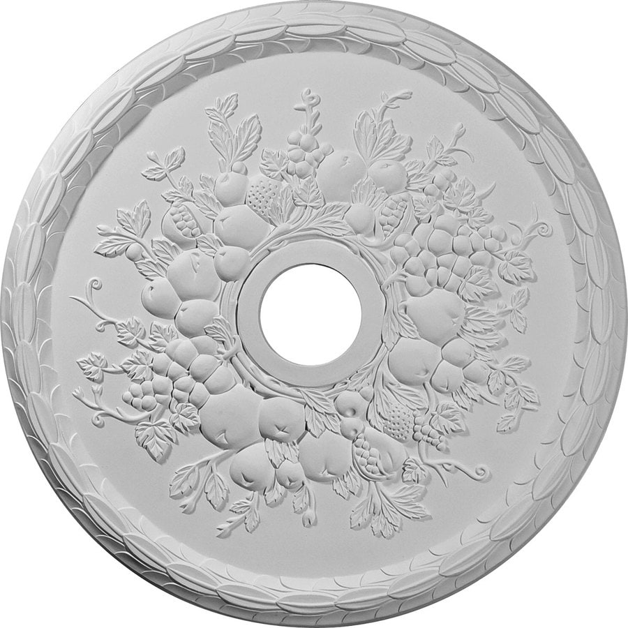 Ekena Millwork Grape 22.625-in x 22.625-in Polyurethane Ceiling Medallion