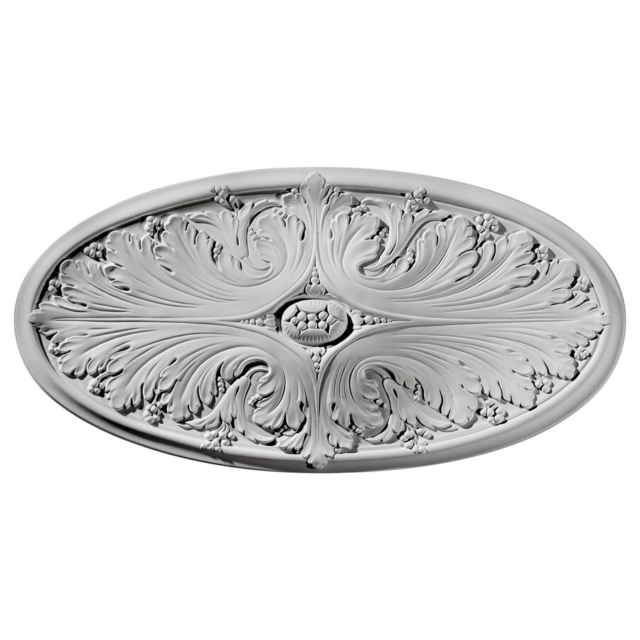 Ekena Millwork 12.5-in x 24.75-in Urethane Ceiling Medallion