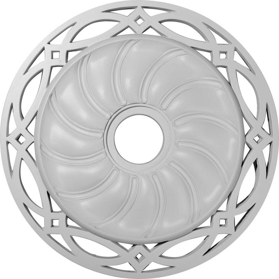 Ekena Millwork Loera 26.625-in x 26.625-in Polyurethane Ceiling Medallion